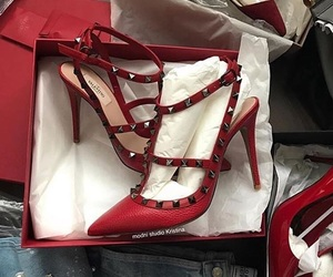 high heels, luxury, and shoes image