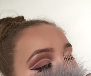 blonde, brow, and burgundy image