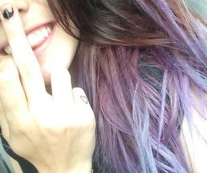 :), hair, and purple hair image