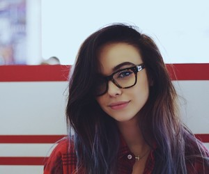 glasses, hair, and instagram image