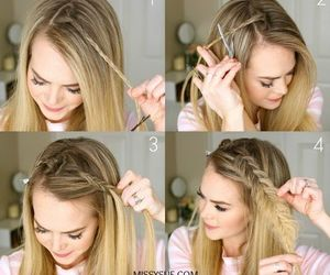 fashion, girls, and hairstyle image