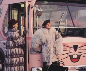 pink, vintage, and bus image