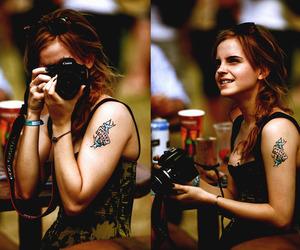 emma watson, camera, and tattoo image