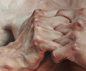 art, hands, and oil image