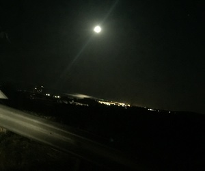 black, city, and moon image