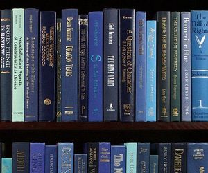 blue, book, and aesthetic image