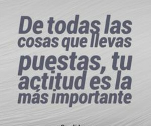 actitud, quotes, and frases image