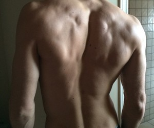muscles, buff, and back muscles image
