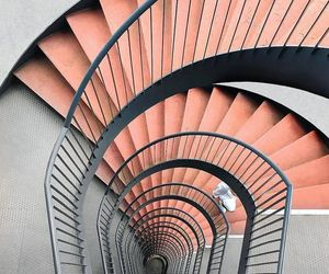 interiors, spiral, and stairwell image