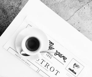 b&w, cafe, and coffee image