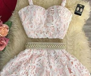 beading, party dresses, and lace homecoming dresses image