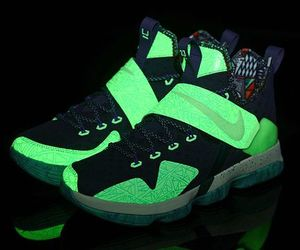glow in the dark, llebron 14, and mans basketball shoes image