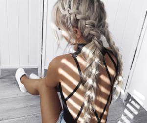 black, grey, and fashion image