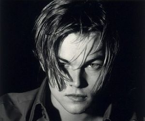 leonardo dicaprio, boy, and black and white image