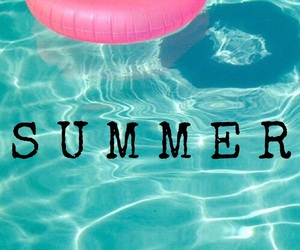 easel, pool, and summer image