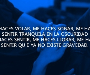 amor, blue, and frases image