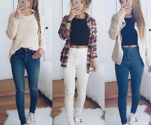 jeans, outfits, and school image