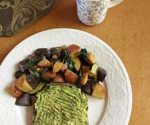 avocado, breakfast, and carbs image