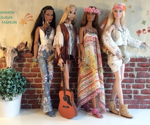barbie, hippies, and peace image