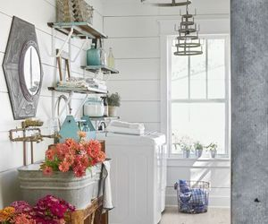 country living, home decor, and laundry room image