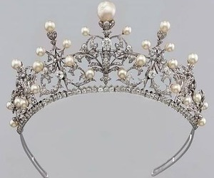 crown, pearls, and princess image