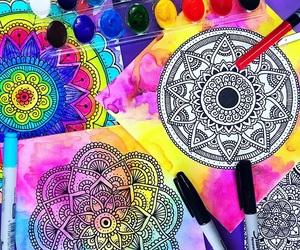 mandala, colores, and pintura image