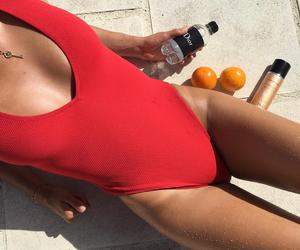 orange, red, and swimwear image