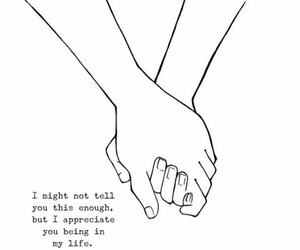 quotes, life, and hands image