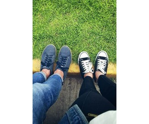 black, converse, and couple image