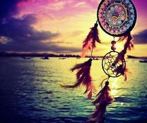 Dream, dreamcatcher, and sea image