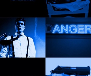 blue, books, and danger image
