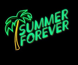 summer, neon, and light image