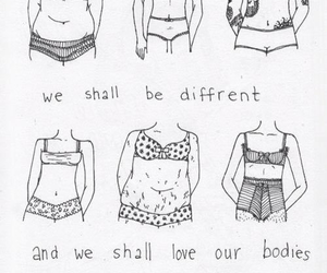 body positivity, love yourself, and beautiful image