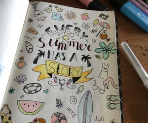 doodles, drawing, and handlettering image
