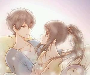 anime couple, chitanda eru, and hyouka image