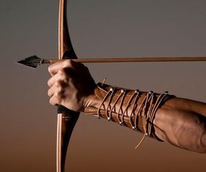 arrow, leather, and bow image