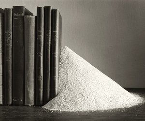 black and white, bookend, and books image