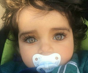 baby, bébé, and eyes image