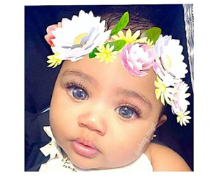baby, eyes, and yeux image