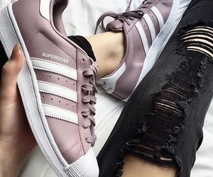 adidas, superstar, and girly image