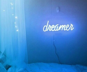 blue, dreamer, and light image