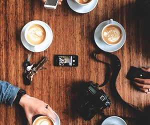 coffee, camera, and friends image
