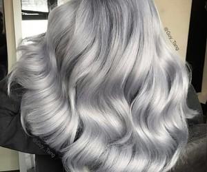 hair, silver, and gray image
