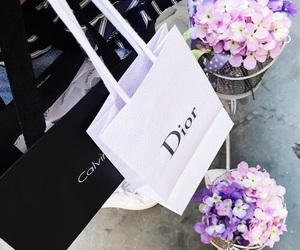 Calvin Klein, dior, and flowers image