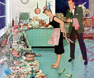 vintage, retro, and housewife image