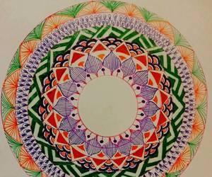 drawings, hobby, and mandala image
