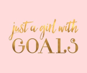goals, quotes, and pink image