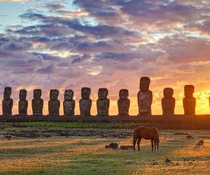 chile, easter island, and travel image