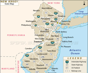 buy new jersey state map and new jersey state map image