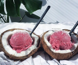 food, coconut, and summer image